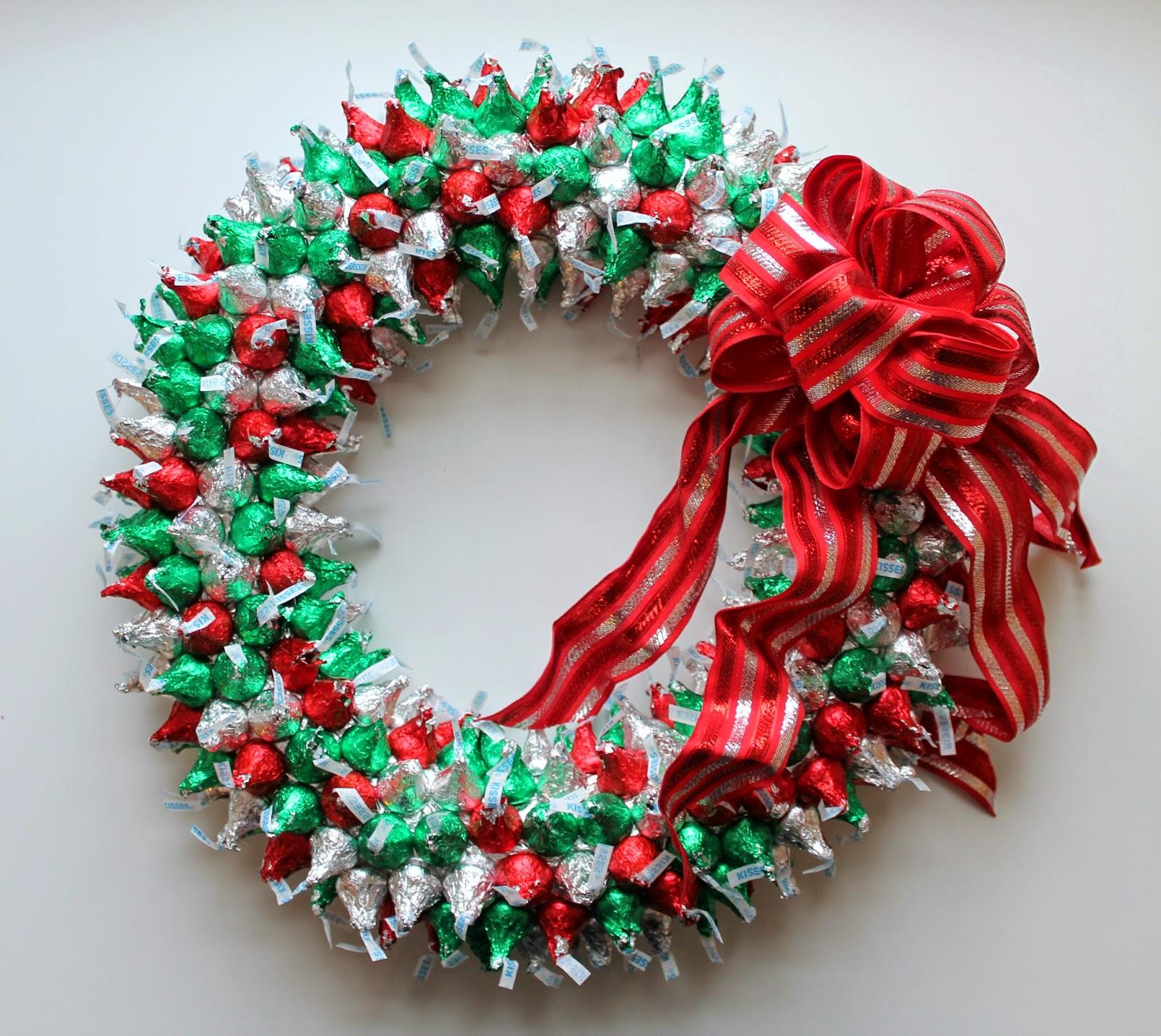 Hershey\'s Kisses Wreath