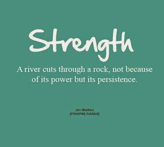 Sila: rieka prerazi skalu nie preto, ze je silna, ale preto ze vytrva
