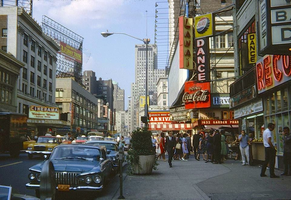1960s New York City on san francisco 6th street
