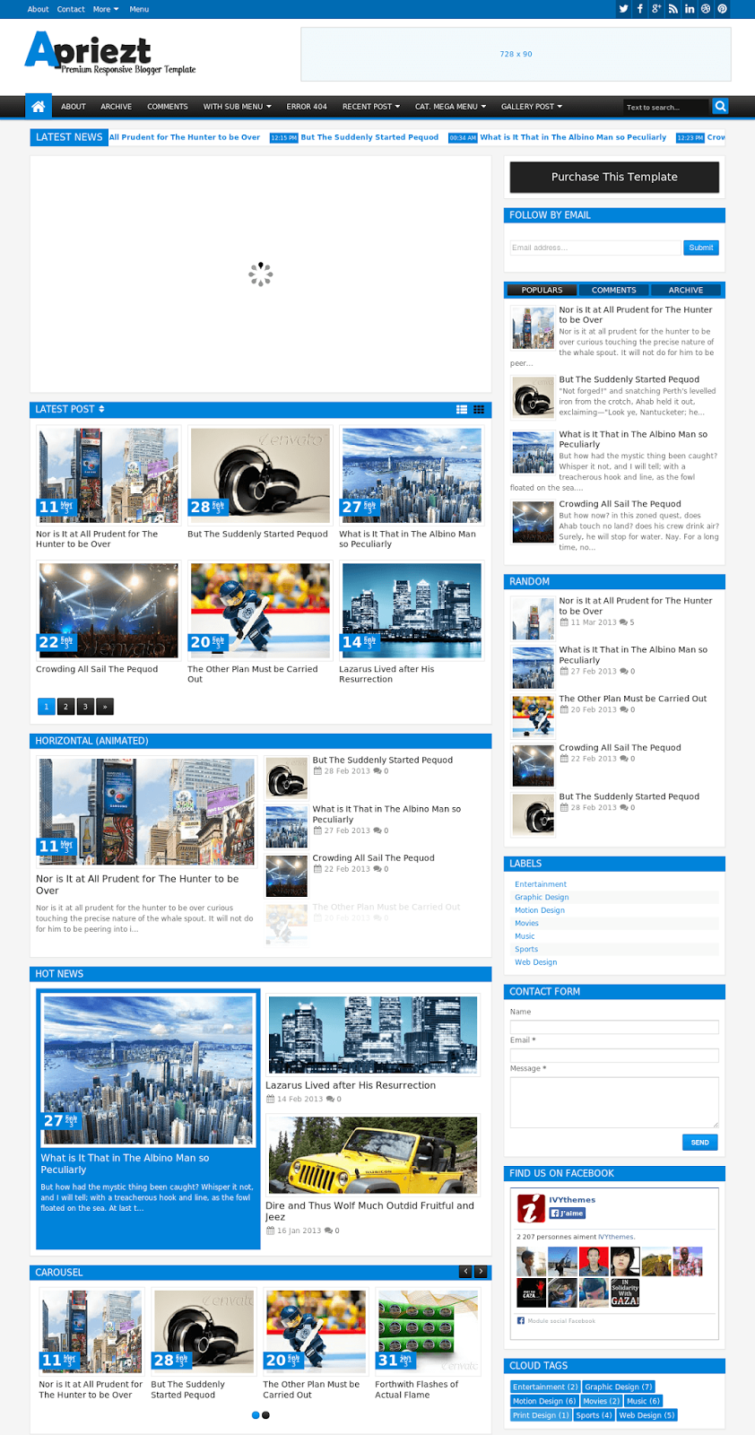 Top 10 best free blogger premium templates free premium templates this blogger template apriezt responsive magazinenews responsive with layout and two style boxed or full widthis template is good his design clean and maxwellsz