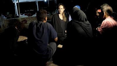 Angelina Jolie visits Jordan camp for Syrian refugees