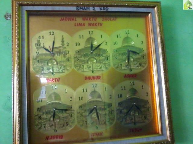 jam untuk jadwal sholat 5 waktu