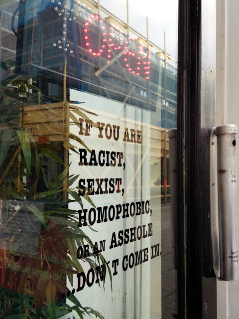 Lebowski Bar, Reykjavik - if you are racist, sexist, homophobic or an asshole, don't come in