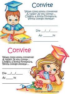 Pedagógiccos Convites Para Formatura Infantil