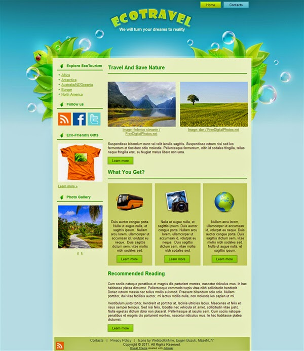 Eco Travel - Free Drupal Theme
