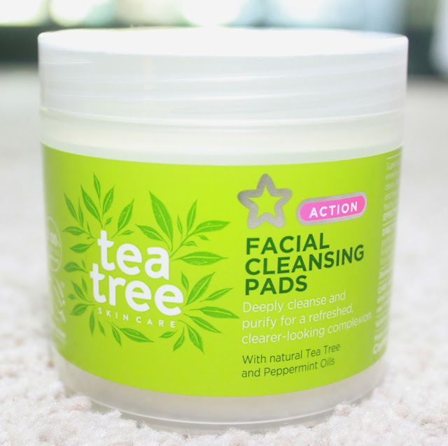 SUPERDRUG TEA TREE FACIAL CLEANSING PADS