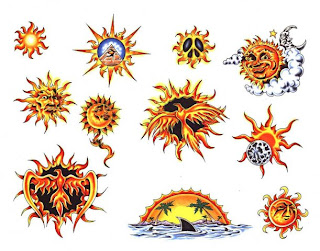 Fotos e imagens de Tatuagens de Sol