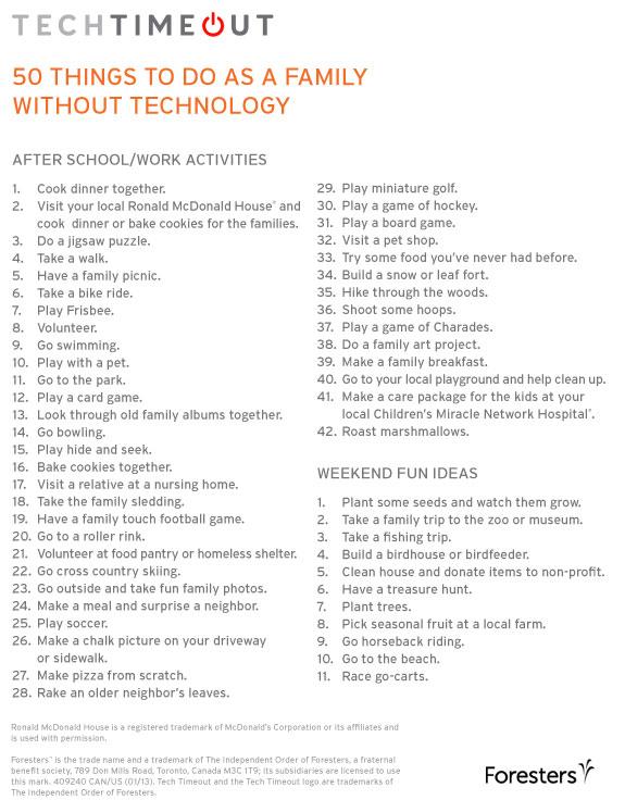 Tech Timeout | enjoytheviewblog.com #techtimeout #family