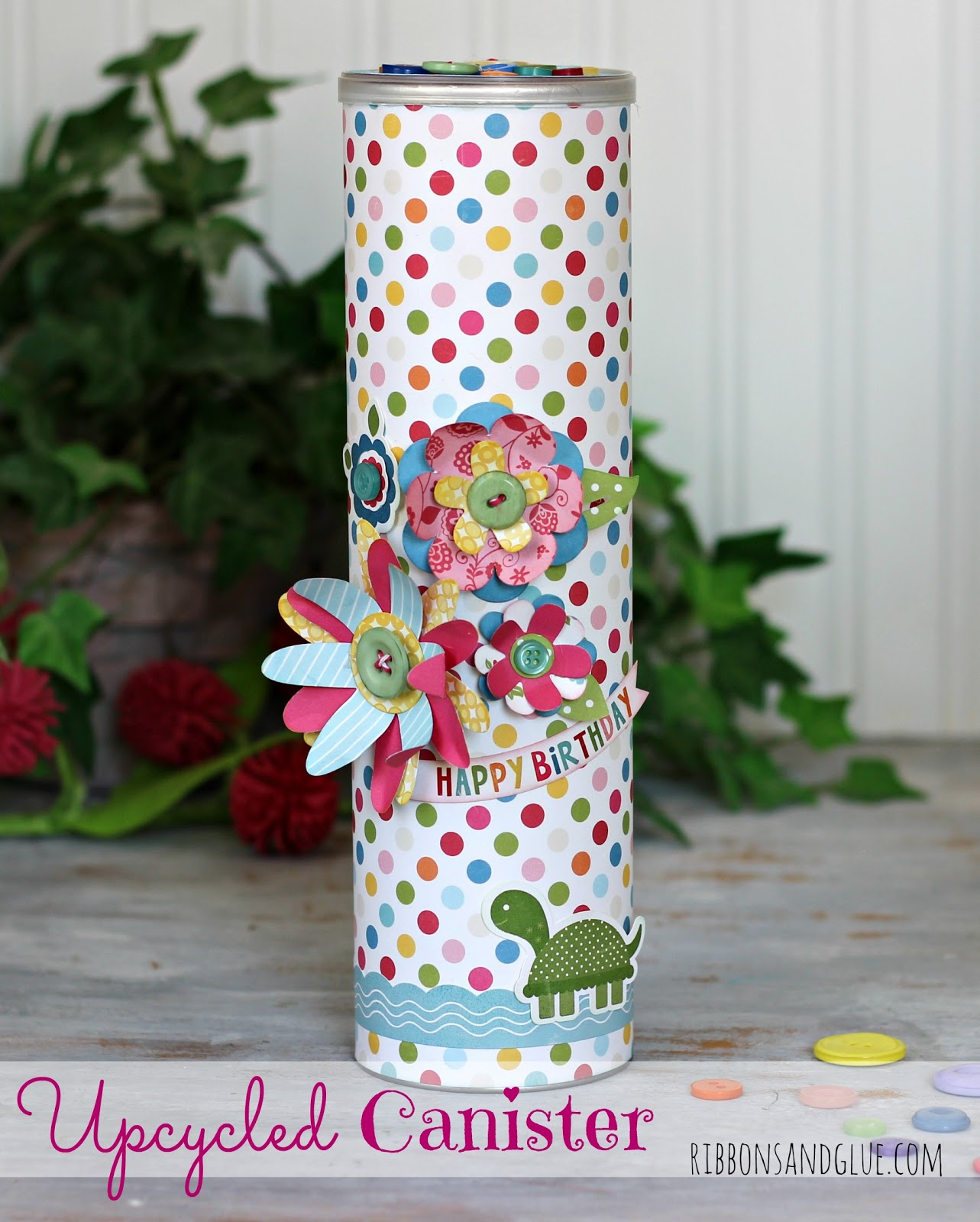 Upcycled Pringles Canister