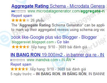 Chèn đánh giá 5 sao vào Blogger