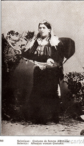 Albanian woman costume(Salonica)