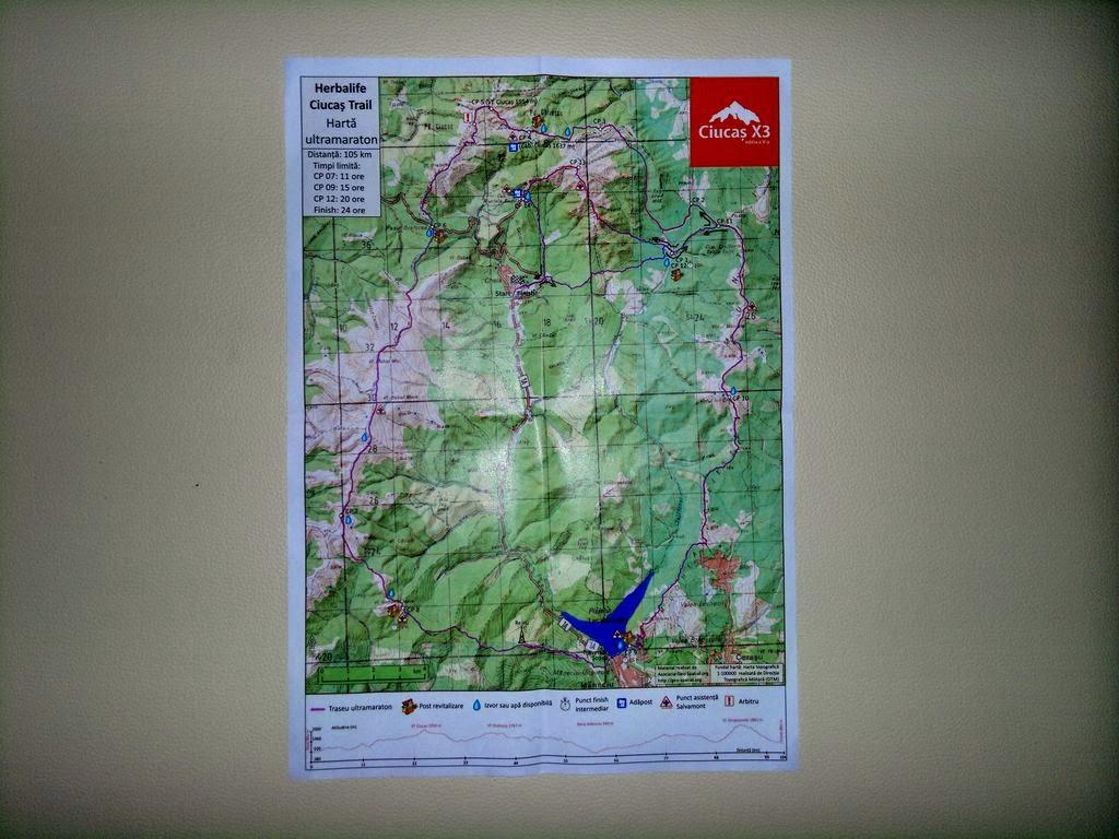 Echipamentul de alergare obligatoriu pentru Ultramaraton Ciucaş X3. Harta traseului
