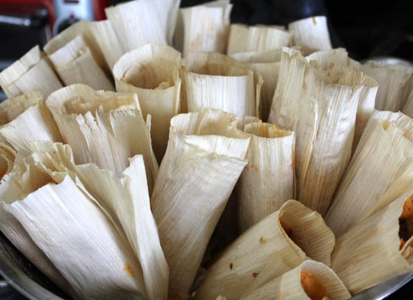 a steamer full of tamales