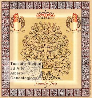 Albero Genealogico decorativo con alfabeto