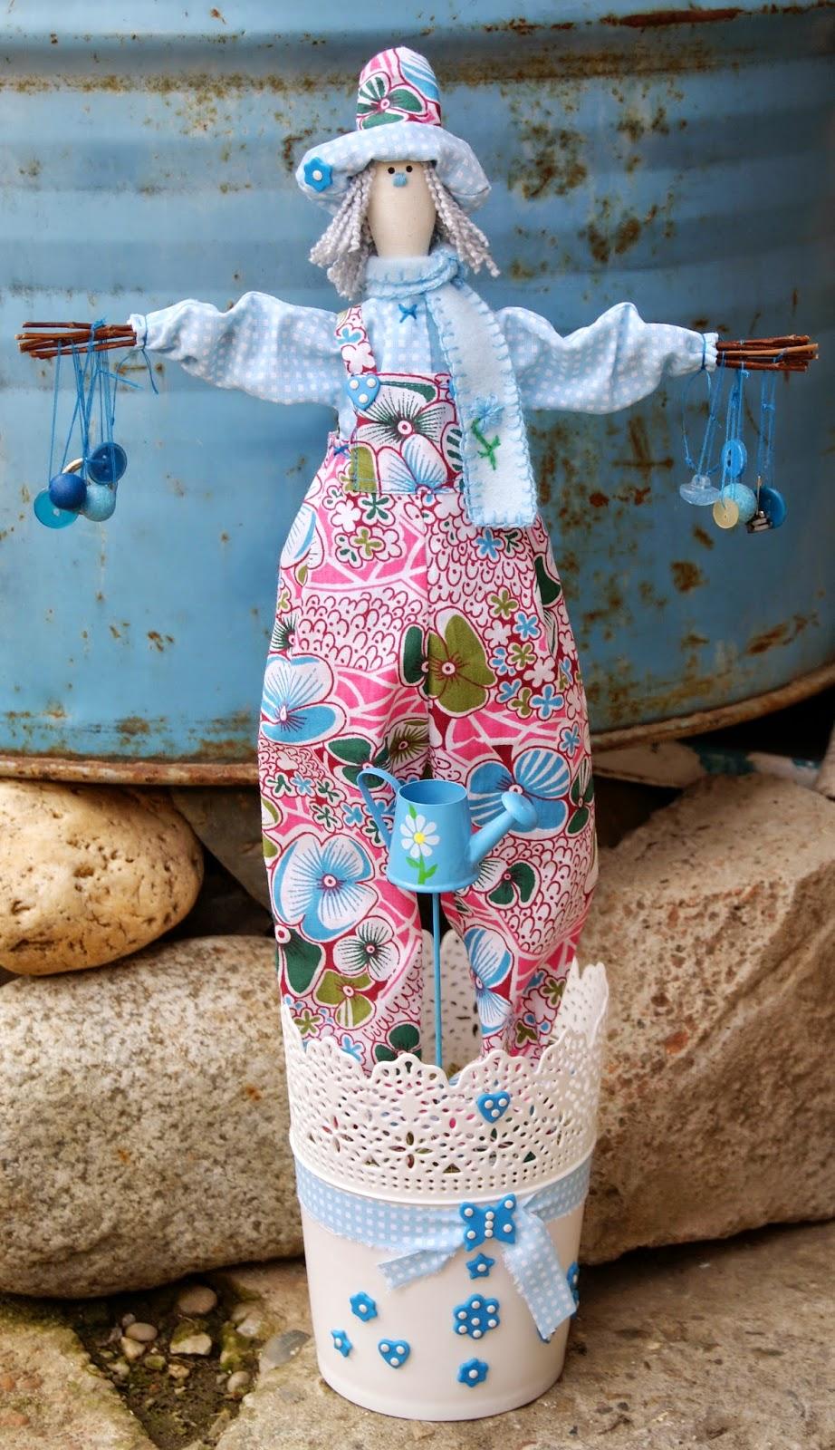 тильда, чучело, интерьерная кукла, садовый человек