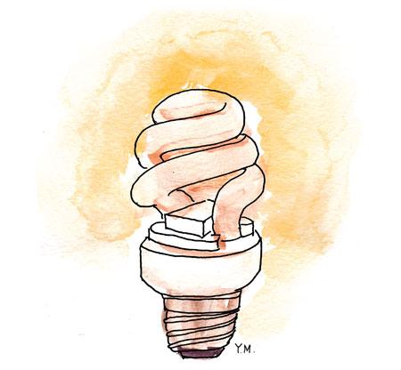 light bulb by Yukié Matsushita