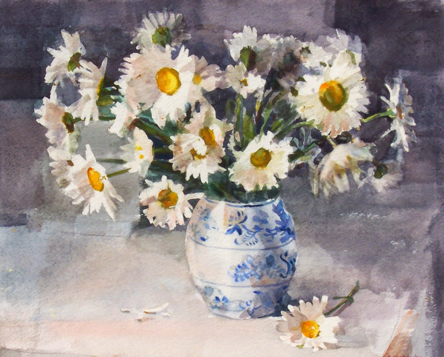 Art every day daisies in dutch vasestill life watercolor10x12 daisies in dutch vasestill life watercolor10x12price200 reviewsmspy