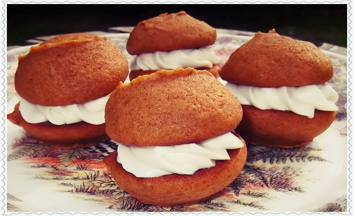 ... Country Baking: Pumpkin Whoopie Pies with Maple Cream Cheese filling
