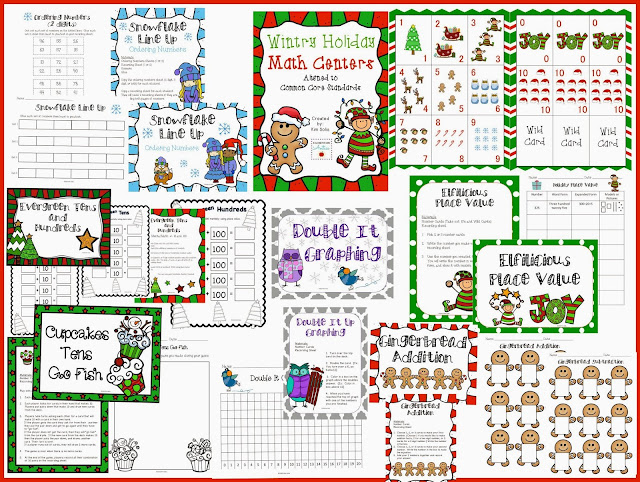 http://www.teacherspayteachers.com/Product/Wintry-Holiday-Math-Centers-Common-Core-Aligned-1002592