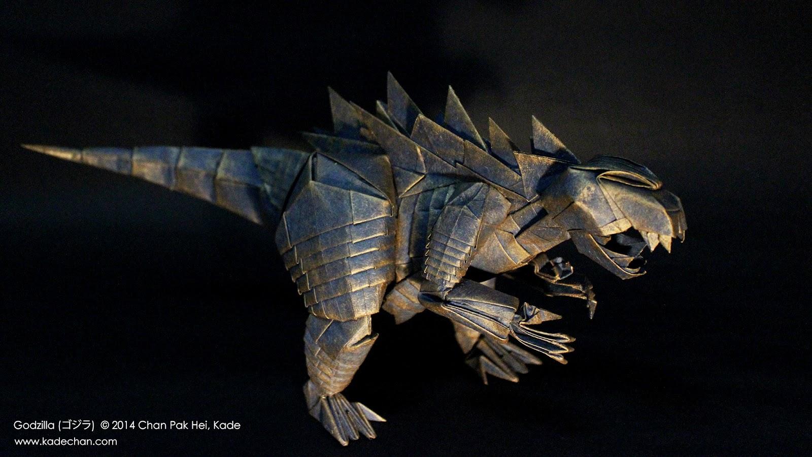 kade chan origami blog �������������� ��� origami godzilla ���