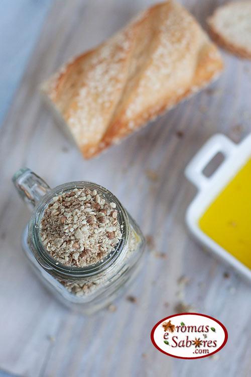 Dukkah com sementes de girassol