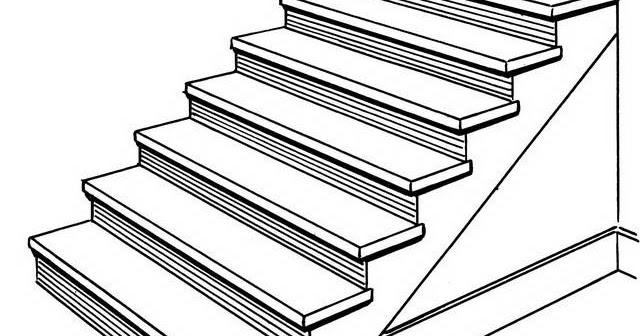 Escalones para colorear y pintar 4 dibujo - Escaleras para pintar ...