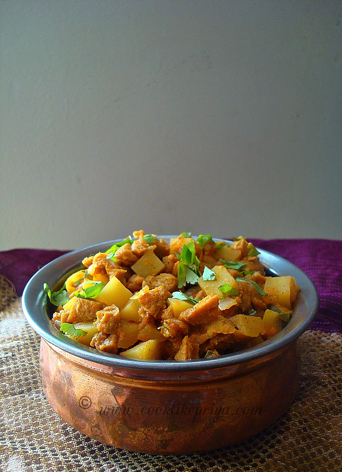 meal maker kheema curry