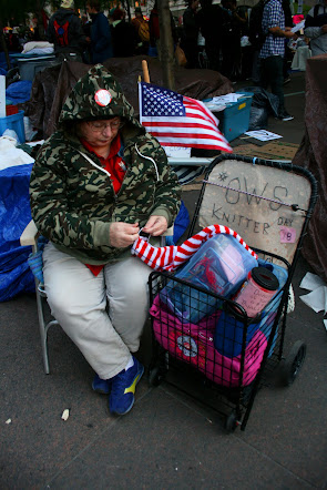 Occupy Wall Street knitter