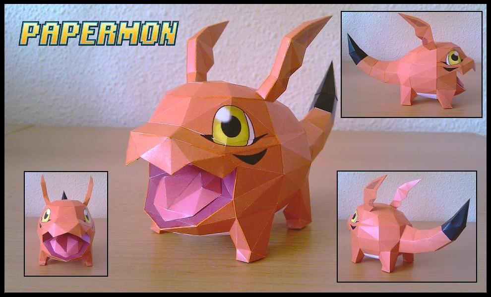 papermon digimon papercrafts gigimon papercraft