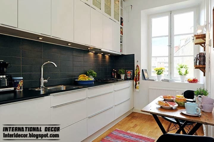 small kitchen in Scandinavian style and design