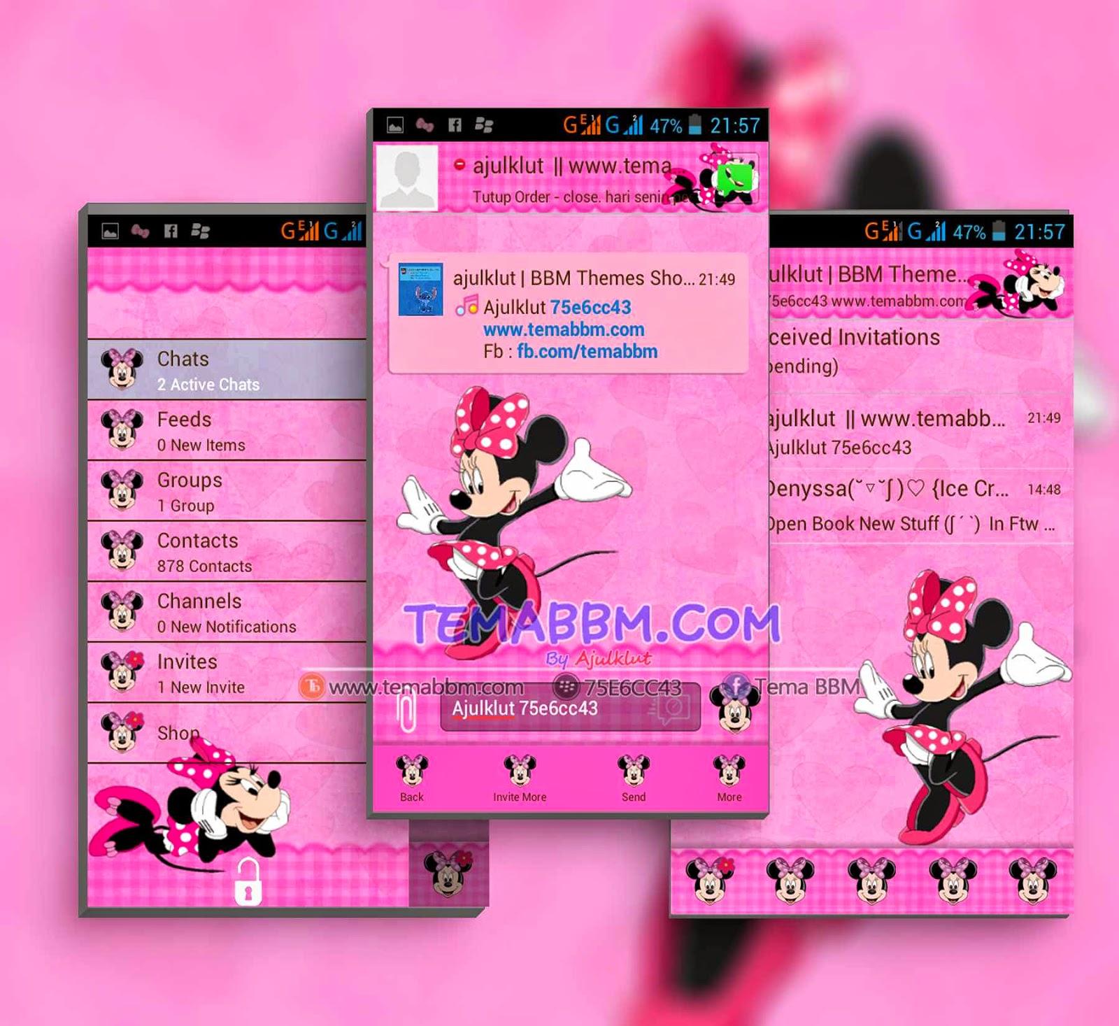 Tema BBM Mickey Mouse