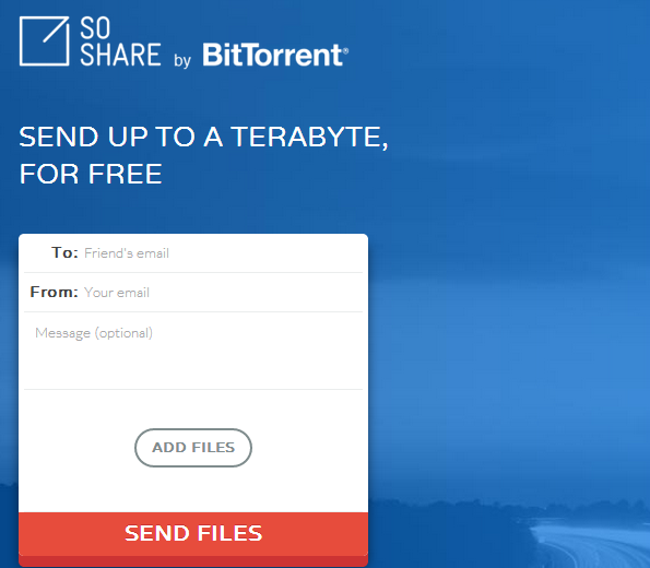Share And Send Files up to 1 TB For Free with SoShare