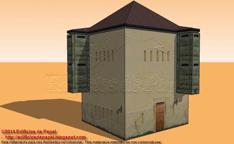 Maqueta de Papel inspirada en el fuerte de Yarayó, Santiago de Cuba.