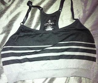 Style Athletics Sports Bra Marshalls Black Gray Stripe Jockey