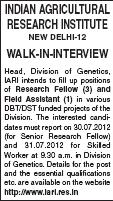 Indian Agricultural Research Institution Walk in Interviews for Research Follow and Field Assistant