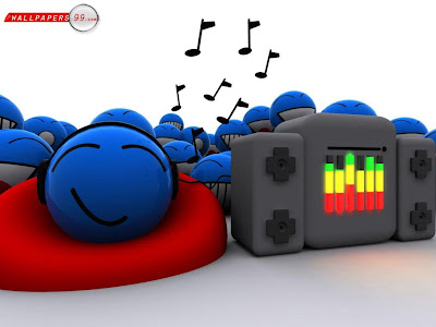 Cute 3d Music Cartoon Wallpaper