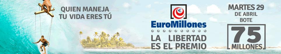 Bote de los euromillones - Campaña publicitaria La libertad es el premio