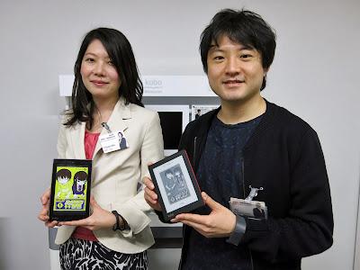 楽天Koboの糸山尚宏氏(右)、織田未来氏(左)