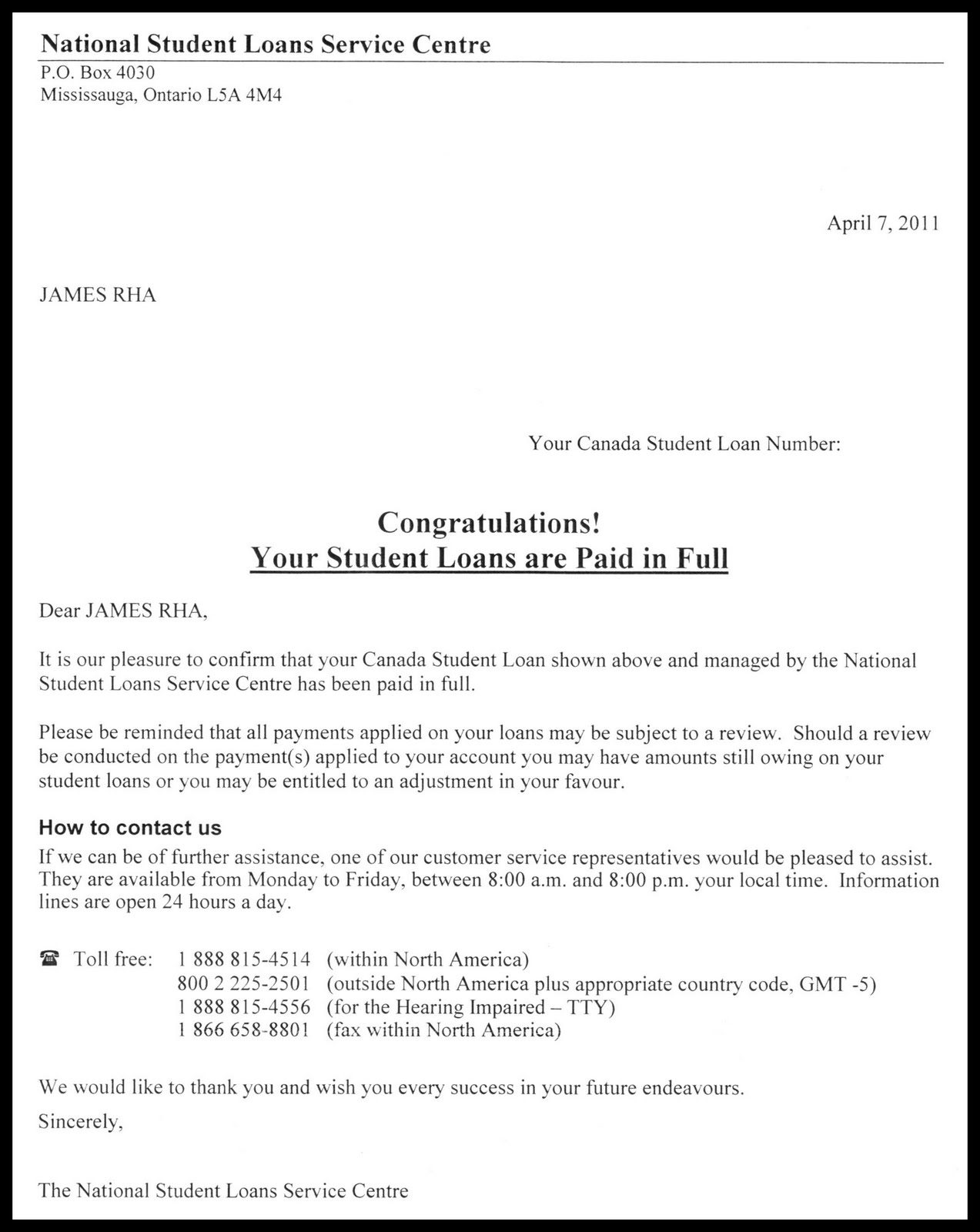 loan payoff letter template .