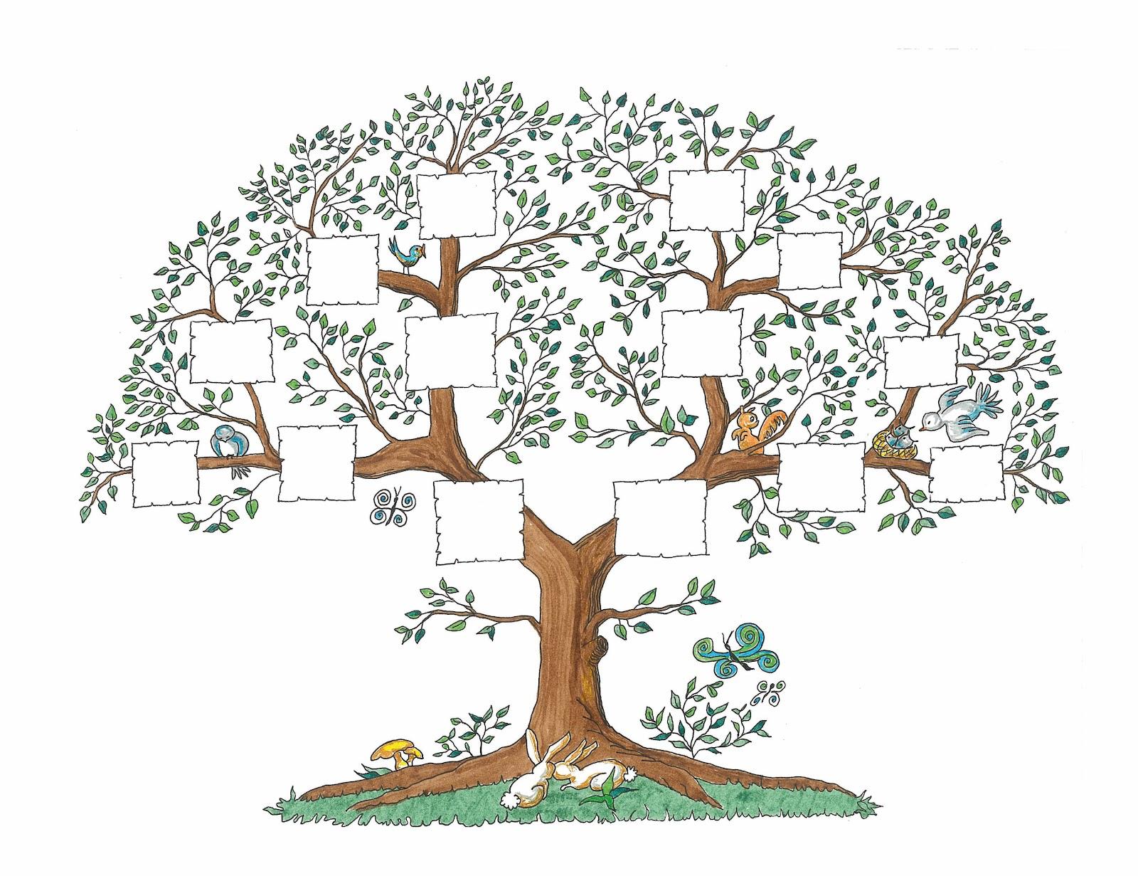 Plantilla de arbol genealogico con fotos - Imagui