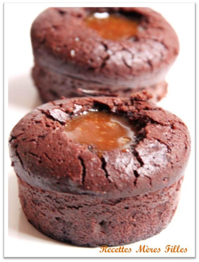 Gateaux au chocolat coeur fondant caramel beurre sal le blog de la saint valentin - Gateau chocolat beurre sale ...