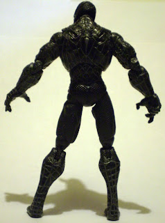Back view of glow in the dark Venom action figure
