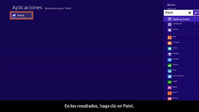 seleccionar resultados de paint windows 8
