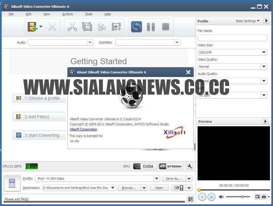 Xilisoft Video Converter Ultimate 6 Keygen