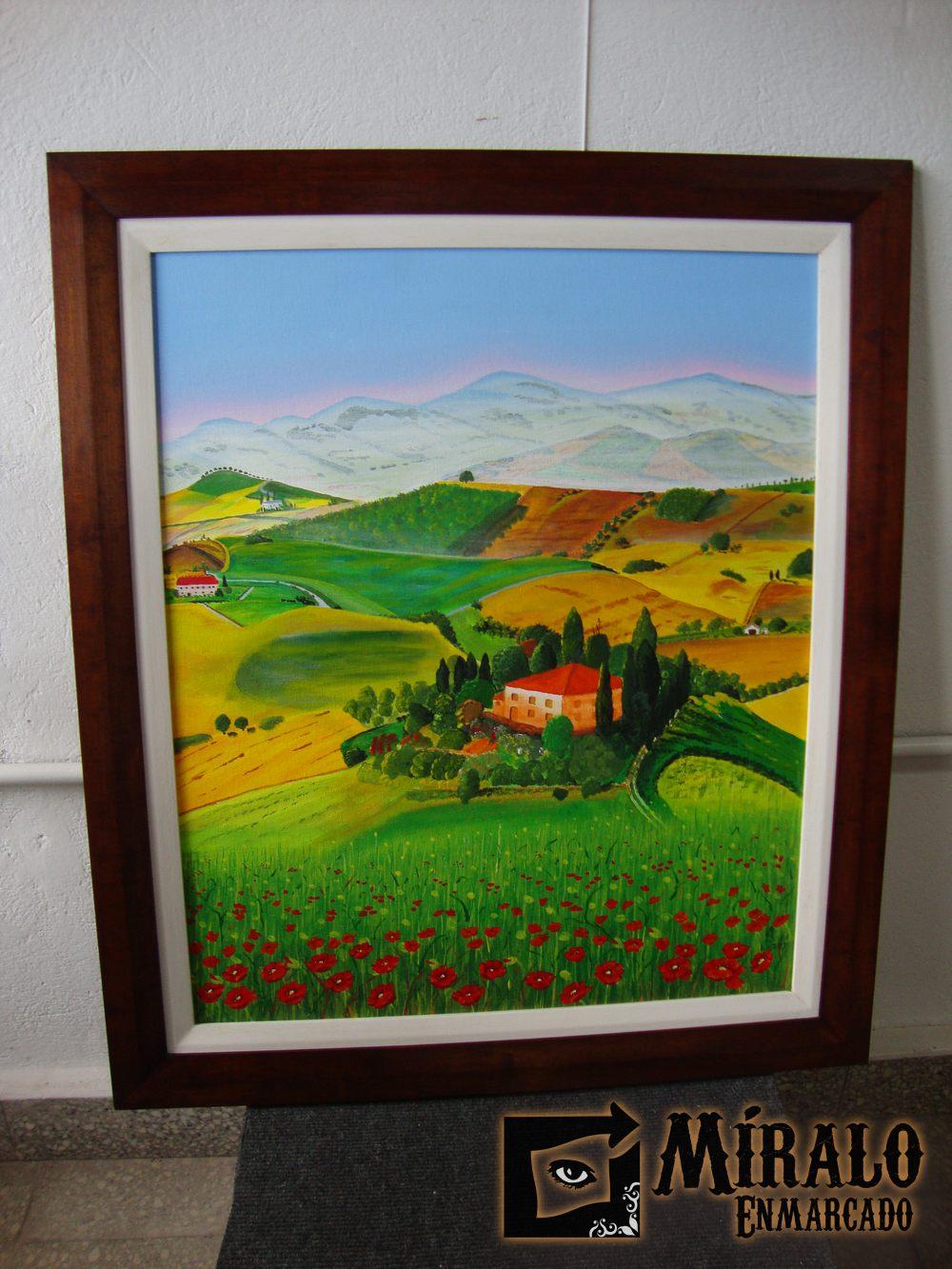 Enmarcado de pinturas doble marco for Marcos para pinturas