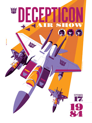"Acidfree Gallery - ""Decepticon Air Show"" Transformers Standard Edition Screen Print by Tom Whalen"