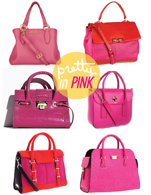 StyleAndPepperBlog.com : : Trendwatch: Poppy Pink Handbags