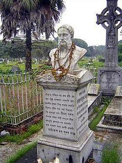 Tomb of Bengali poet Madhusudan Dutt where Hungryalists used to arrange poetry readings in Sixties