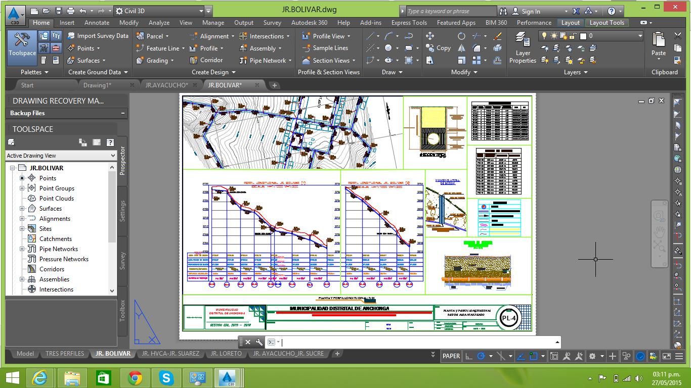 Plantilla para red de Alcantarillado Sanitario en Civil 3D - Ingeniería