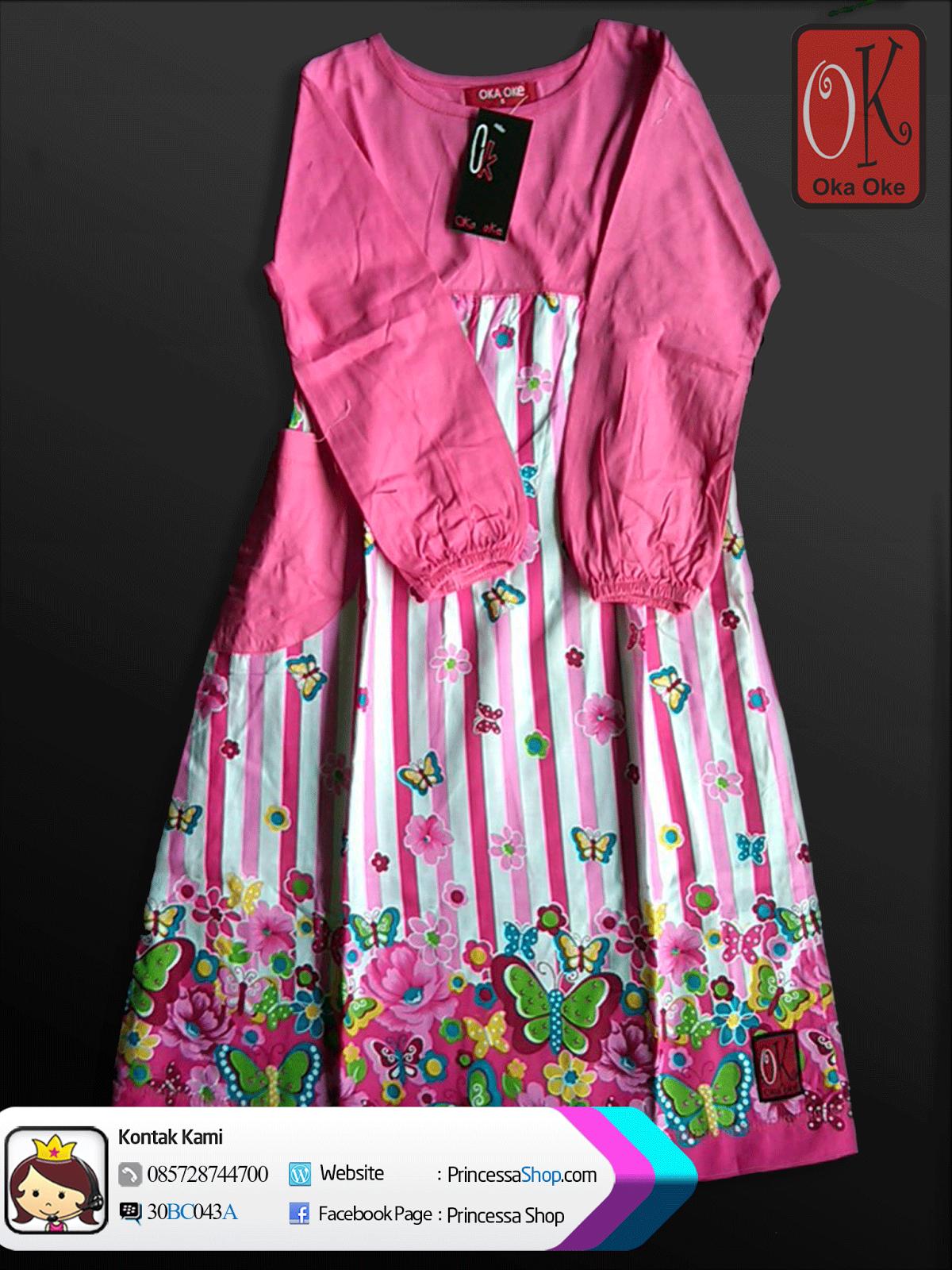 Baju muslim model gamis anak perempuan murah konveksi oka Contoh baju gamis anak